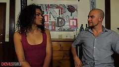 Sexy Trans Girl Is Fucked Hard In The Ass By The Bartender