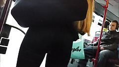 Fantastic round teen ass in black jeans HD