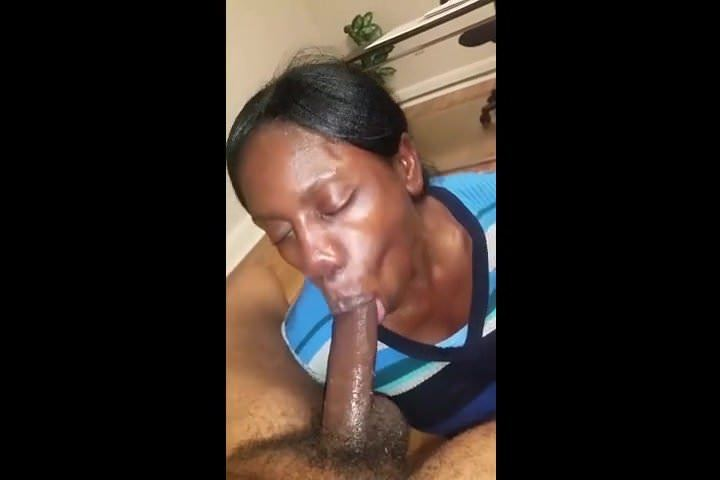 Ebony Bbw Blowjob Sucking Dick
