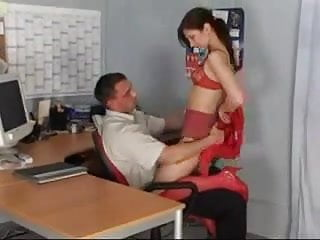 Secratary fucking the boss - His new secratary...f70