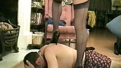 Cruel Madam with new slave.
