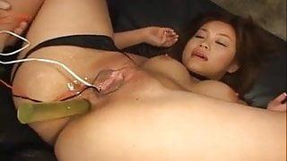 Smashing anal solo with Yuki