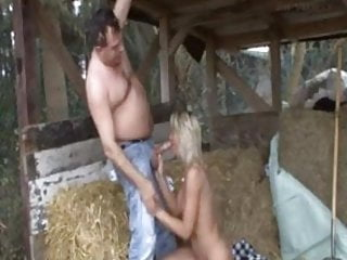 Milf in boots flickr Milf in boots blows the chubby guy in the hay