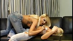 Two hot blondes get in a foursome with two guys