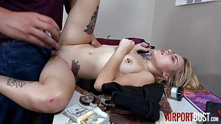 Barelely Legal Tiny Blonde Teen Fucked by Airport Security