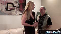 Blonde MILF fucks in front of her husband