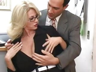 Mature cum on tit Mature secretary gets cum on her big tits