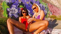 Lesbian Hotties Fuck Under A Hot Desert Sun.mp4