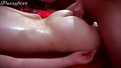 He oiled my ass and screwed hard