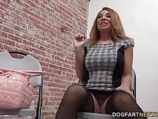 Cocks and holes - Kiki daire rides a black cock at a glory hole