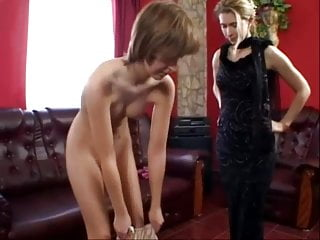Spank and shave - Shaved thin slavegirl spanking session she wont forget