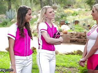 Oklahoma amateur softball association Lily raders softball training turns into teens threesome