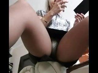 Woman in pantyhose masturbating Sexy woman in pantyhose