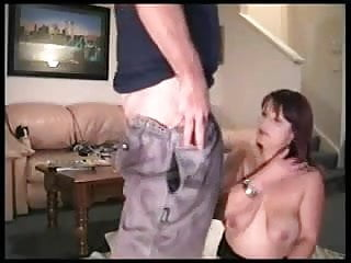 He fucks her husband - Hot wife gives her husband his treat when he comes home