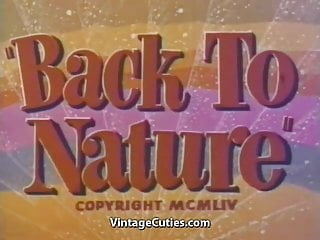 Nudist naturist magazines 1950 to 1990 Outdoor nudists enjoying naked lifestyle 1950s vintage