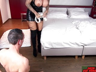 Real amatuer female orgasm - German big tits domina real female orgasm from bdsm slave