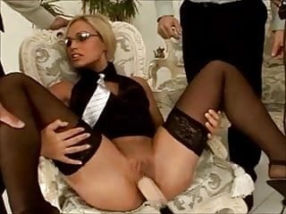 Sex toy for sale - Blonde fucked by her sales staff