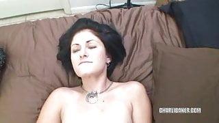 Cute coed Charli Baker fucks and gets a creampie