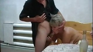 Russian step moms Irina - Valia in the sauna