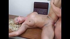 Heidi Mayne is fucked in the office