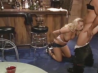 Busty blonde getting her pussy fucked - Busty blonde get her pussy pounded in bar
