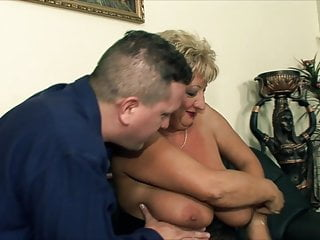 Video mature fucked Huge tits mature fucked by two