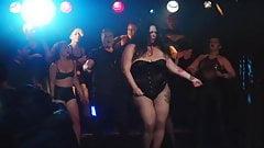 Striptease of a Mature curvy milf