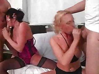 Hot spermed girls 2 hot german girlzz at gangbang sperm party