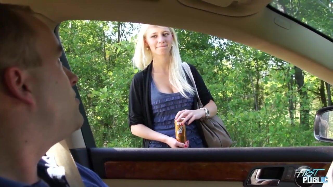 Big Tit Hooker Car Blowjob
