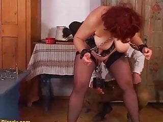 Extreme pussy modification - German mom enjoys a extreme pussy torture
