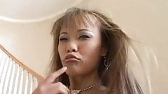 Kinky Asian pussy adores black dick
