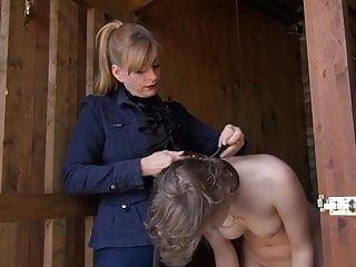 Naked lesbian women showering Lesbian mistress humiliates naked slave