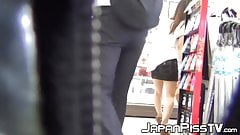 Hidden cam video of Japanese girls peeing in their panties