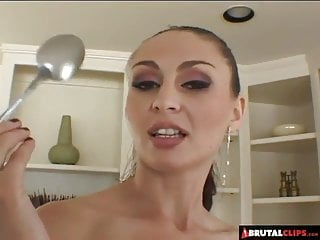 Spooning xxx - Brutalclips - facefucked and fed jizz with a spoon