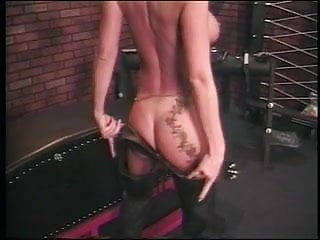 Busty dominatrix squiring - Dominatrix uses hardcore toys on busty blond