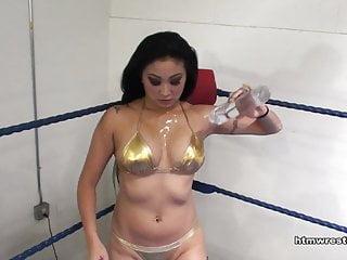 Naked girl brawl - Nicole oring wrestling bikini brawl