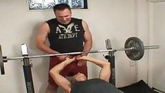 Daddy bear fucking in the gym