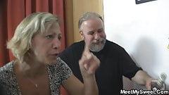 Czech blonde involved into threesome sex
