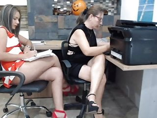 Short dress high heel shoes blowjob Short dress in the office 2