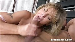 Grandmas just love young cocks