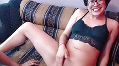 lesbian tongue kiss after pussy lick and fingering to orgasm