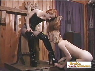 Disobedient sex slaves - Angry mistress tortures her slave for disobedience
