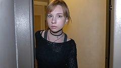 DEBT4k. Teen debtor pays for debts using tender mouth