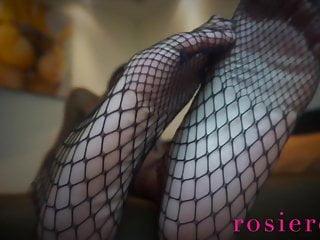 Feet fetish amateurs - Weak for fishnet feet fetish ebony goddess rosie reed