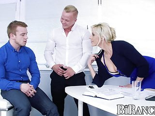 Beach buffed man naked - Buffed office stud assfucked while blown by super hot babe