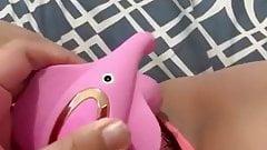 Vibrator over lingerie