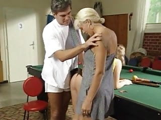 Beautiful tennis player in bondage - Threesome with tennis player