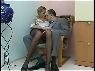 Young Secretary Takes It In The Ass