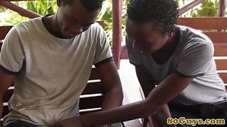 Barebacking cockhungry african twinks