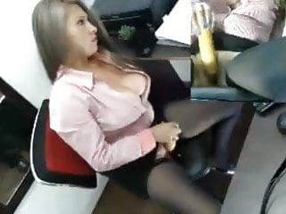 Chanel receptionist nude - Sexy latin receptionist toys at work
